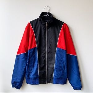 Other - NWT Forever 21 red + blue color block windbreaker